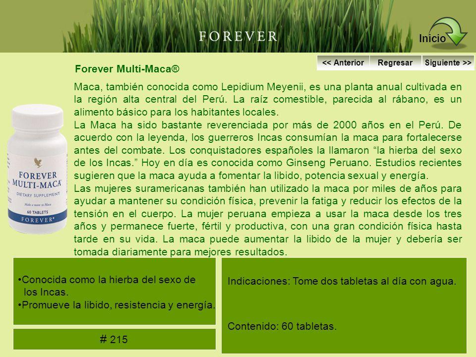 Inicio # 215 Forever Multi-Maca®