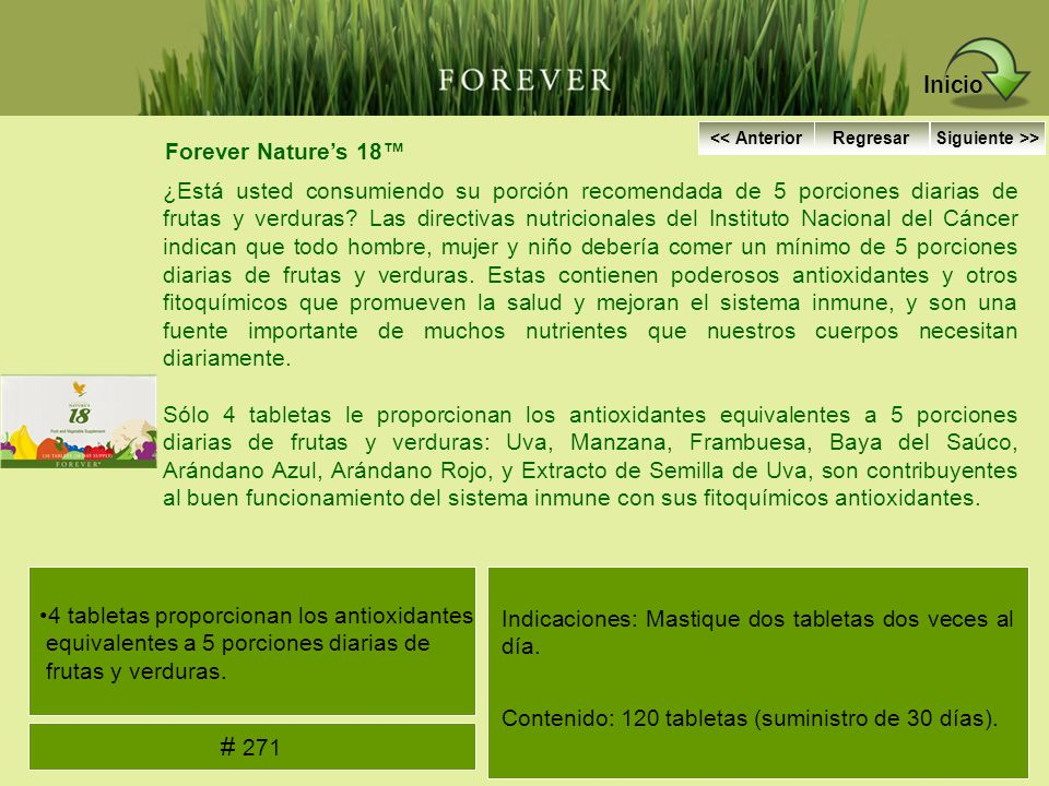 Inicio # 271 Forever Nature's 18™