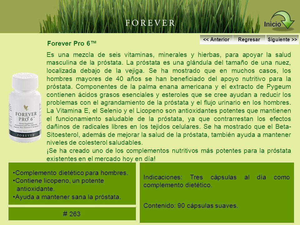 Inicio << Anterior. Regresar. Siguiente >> Forever Pro 6™