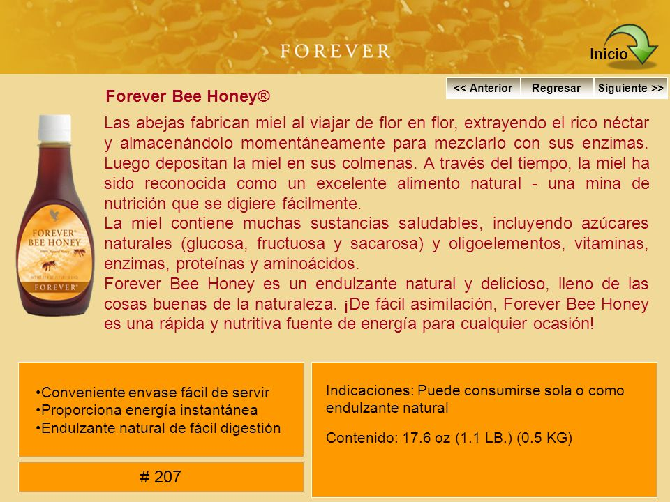 Inicio Forever Bee Honey®