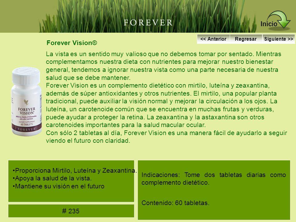 Inicio # 235 Forever Vision®