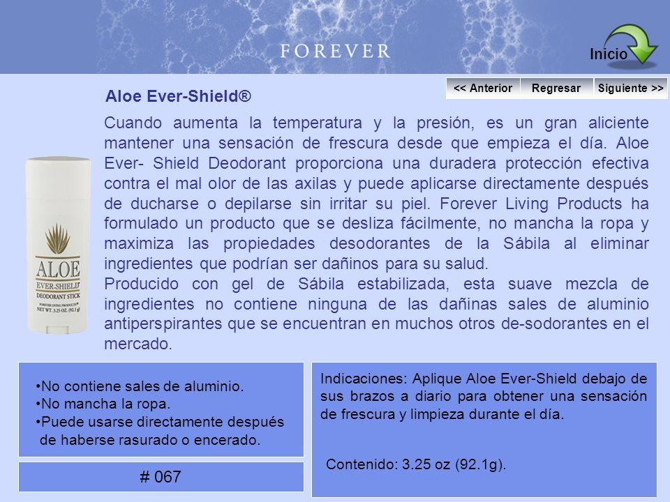 Inicio Aloe Ever-Shield®