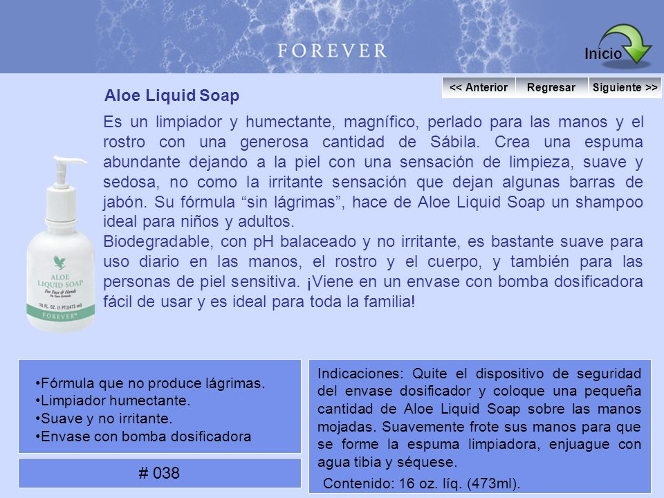 Inicio Aloe Liquid Soap