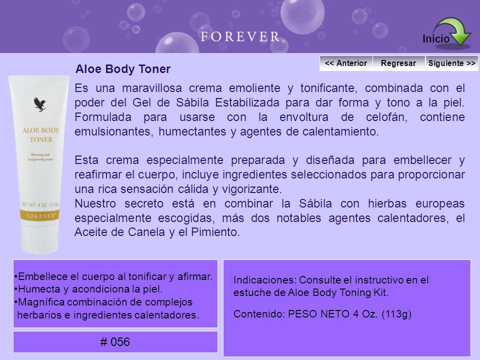 Inicio << Anterior. Regresar. Siguiente >> Aloe Body Toner.