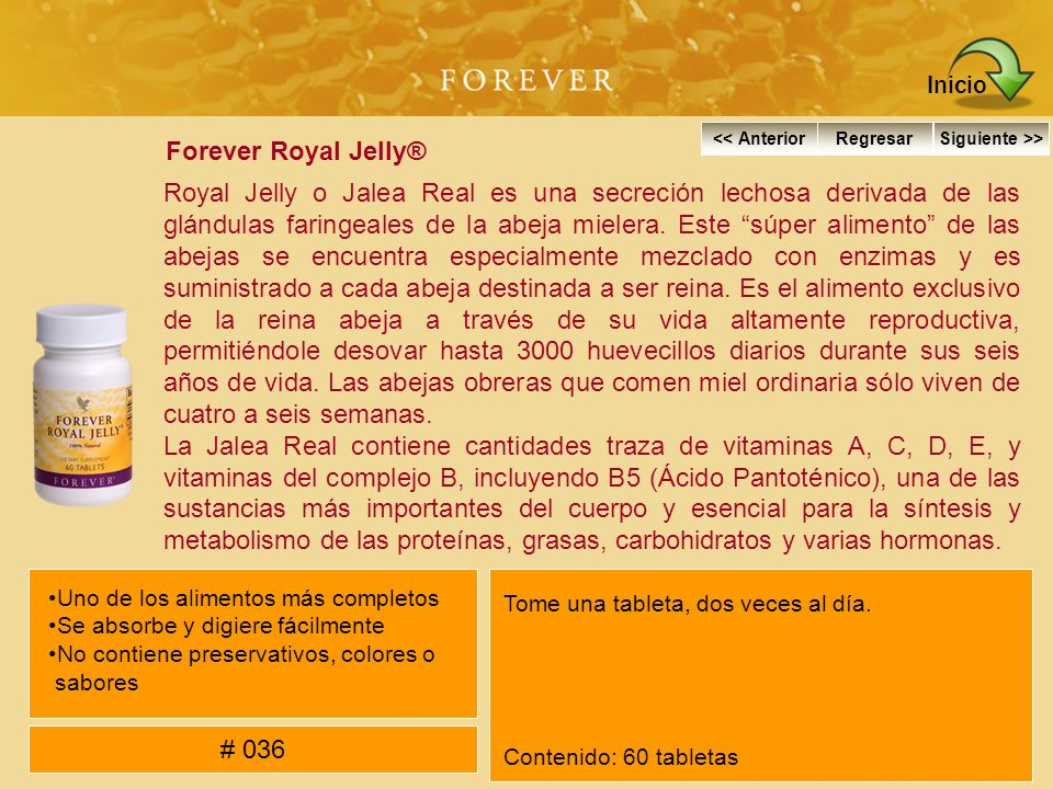 Inicio Forever Royal Jelly®