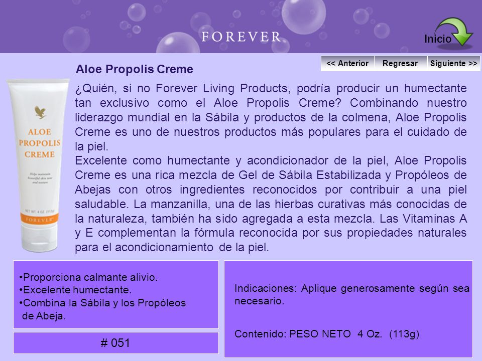 Inicio Aloe Propolis Creme