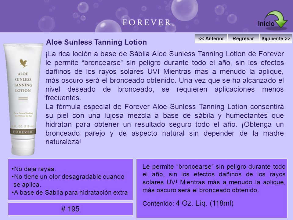 Aloe Sunless Tanning Lotion