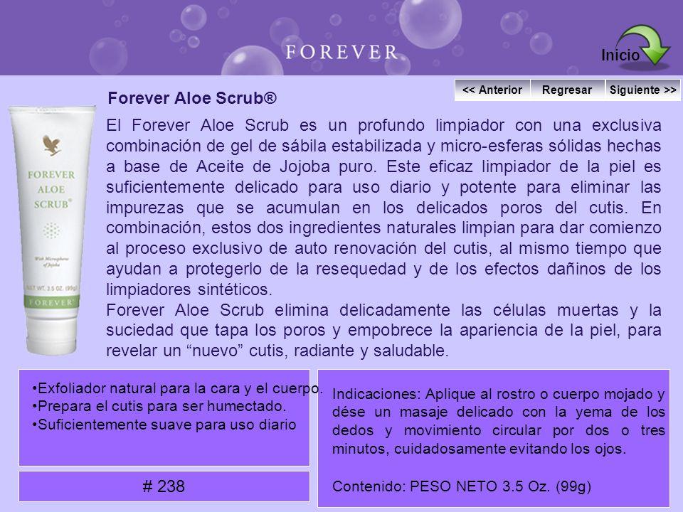 Inicio Forever Aloe Scrub®