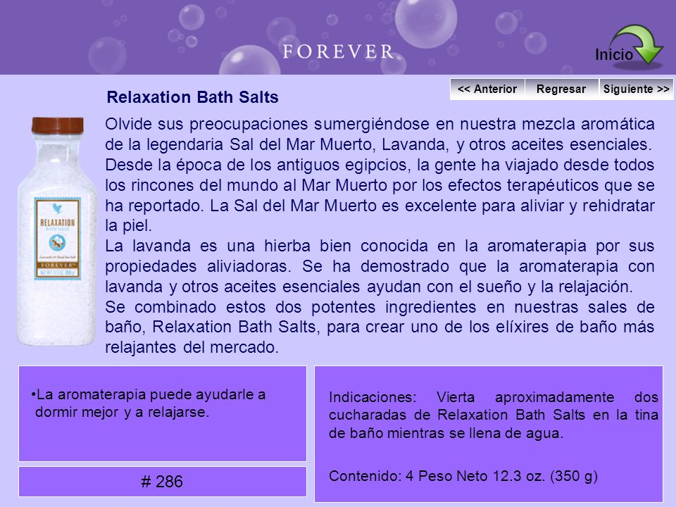 Inicio Relaxation Bath Salts
