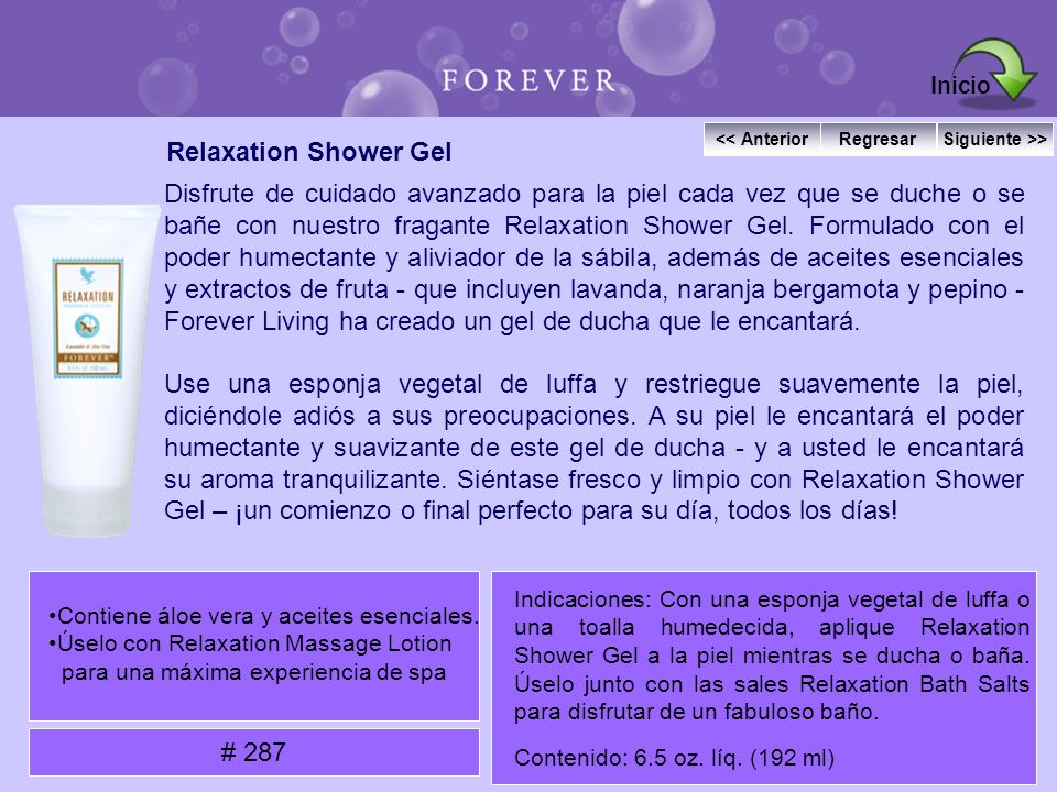 Inicio Relaxation Shower Gel