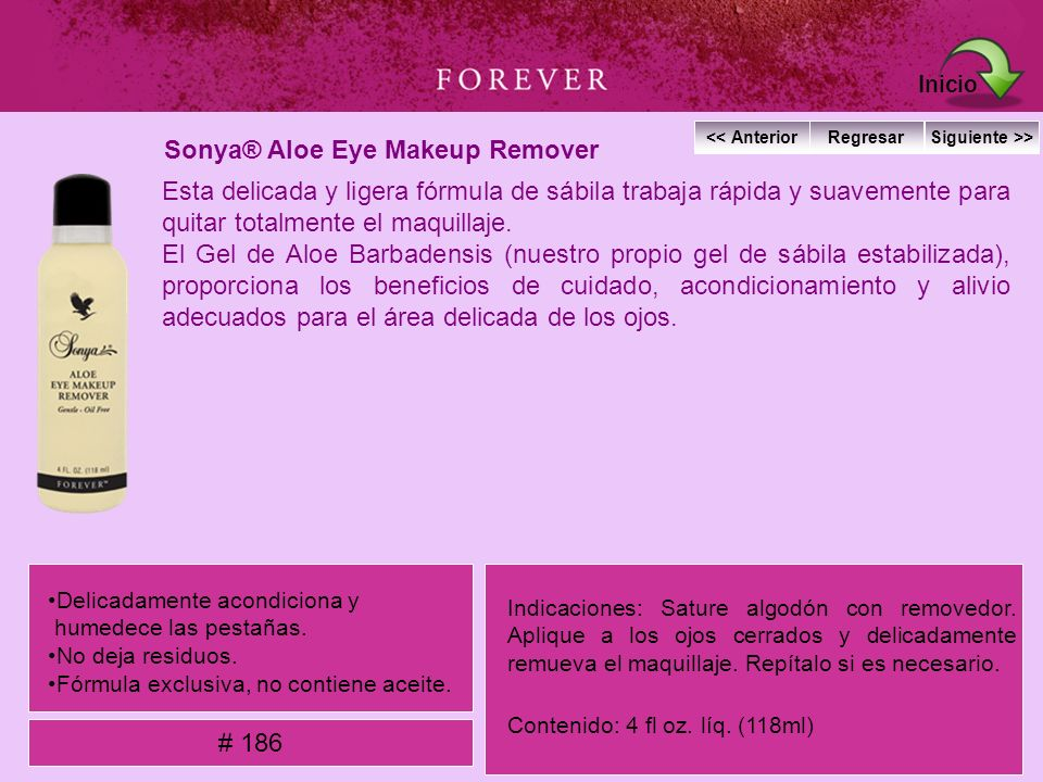 Sonya® Aloe Eye Makeup Remover