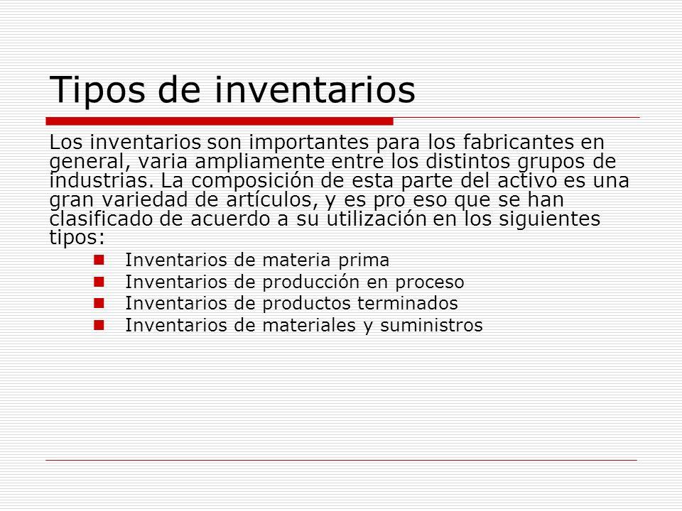 Tipos de inventarios