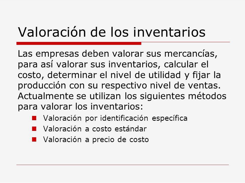 Valoración de los inventarios