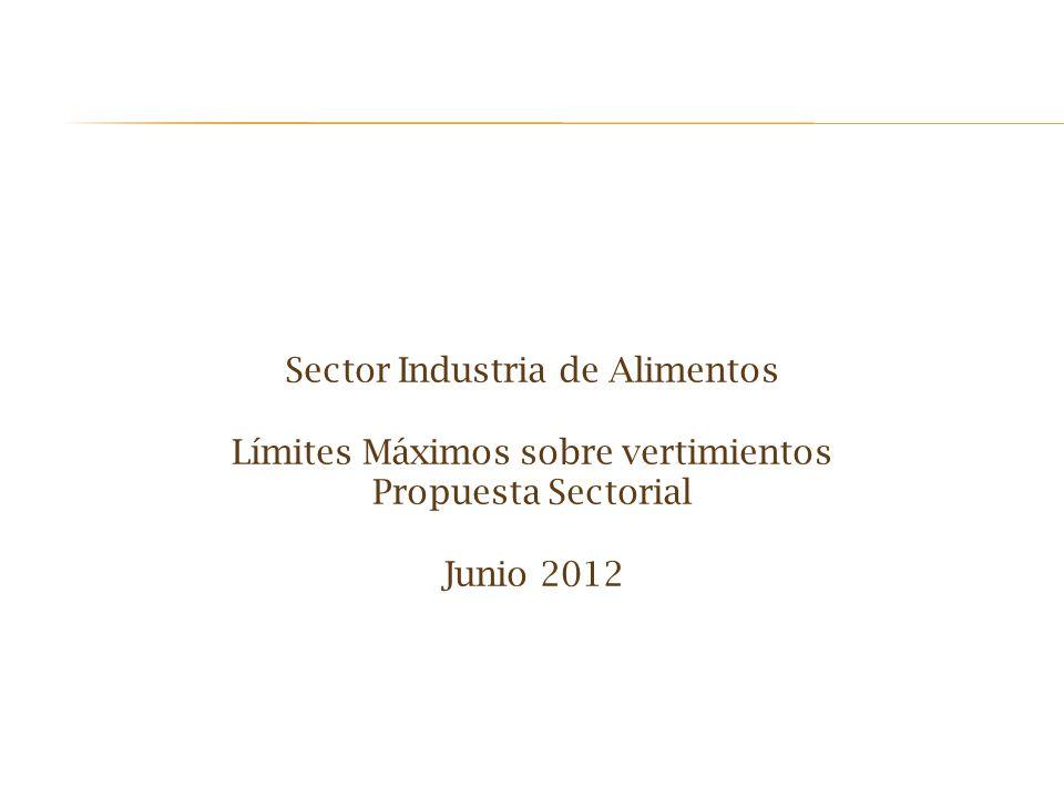 Sector Industria de Alimentos Límites Máximos sobre vertimientos