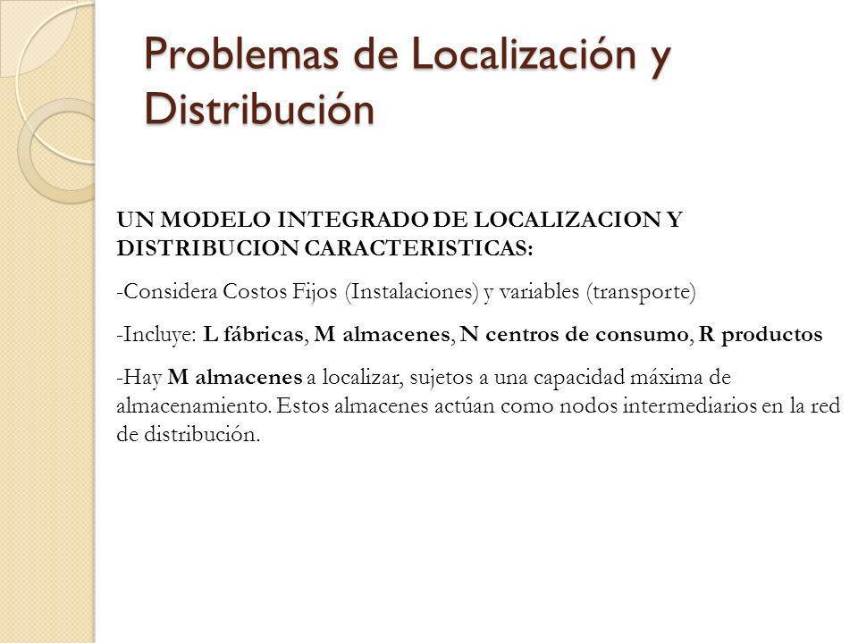 Problemas de Localización y Distribución