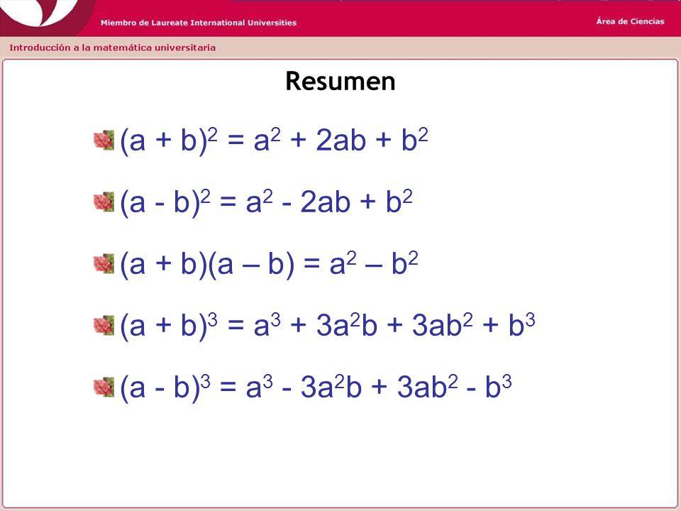 (a + b)2 = a2 + 2ab + b2 (a - b)2 = a2 - 2ab + b2