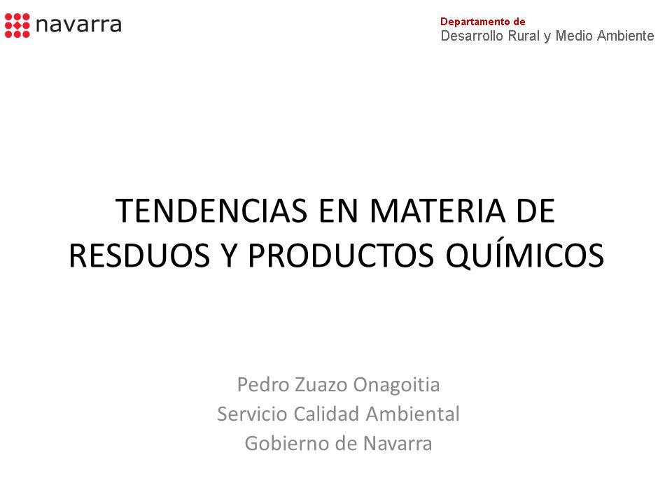 TENDENCIAS EN MATERIA DE RESDUOS Y PRODUCTOS QUÍMICOS