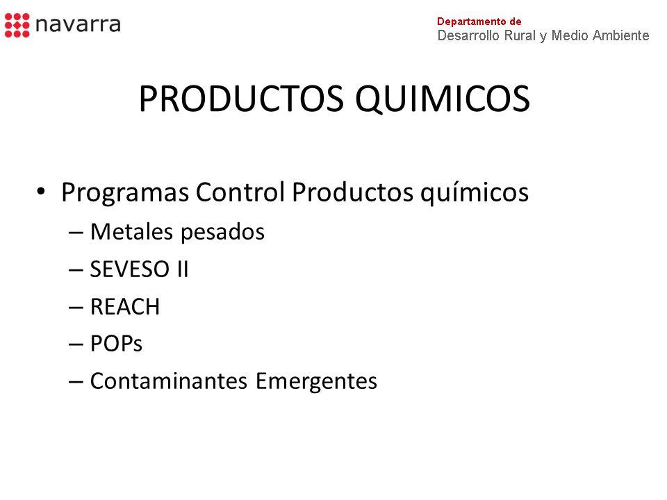 PRODUCTOS QUIMICOS Programas Control Productos químicos