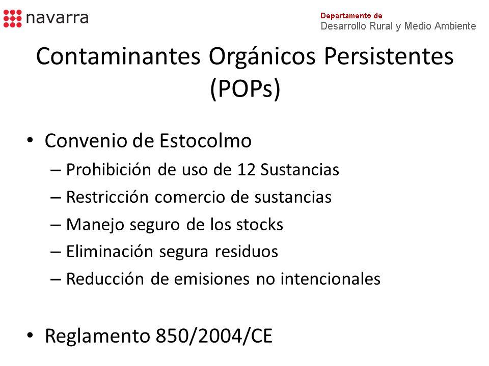 Contaminantes Orgánicos Persistentes (POPs)