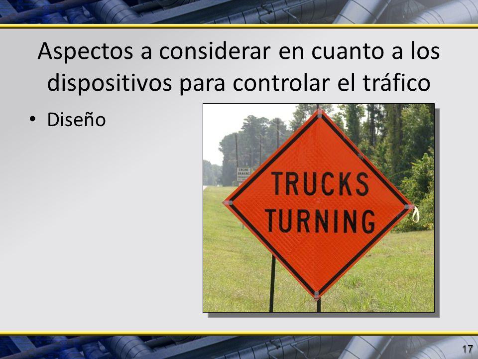 Aspectos a considerar en cuanto a los dispositivos para controlar el tráfico