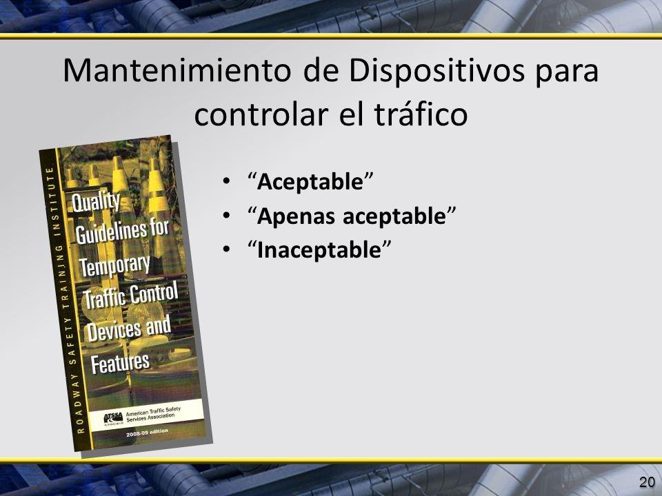 Mantenimiento de Dispositivos para controlar el tráfico