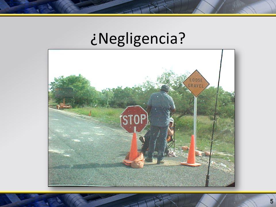 ¿Negligencia