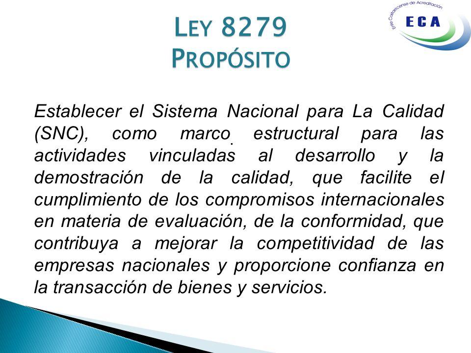 Ley 8279 Propósito