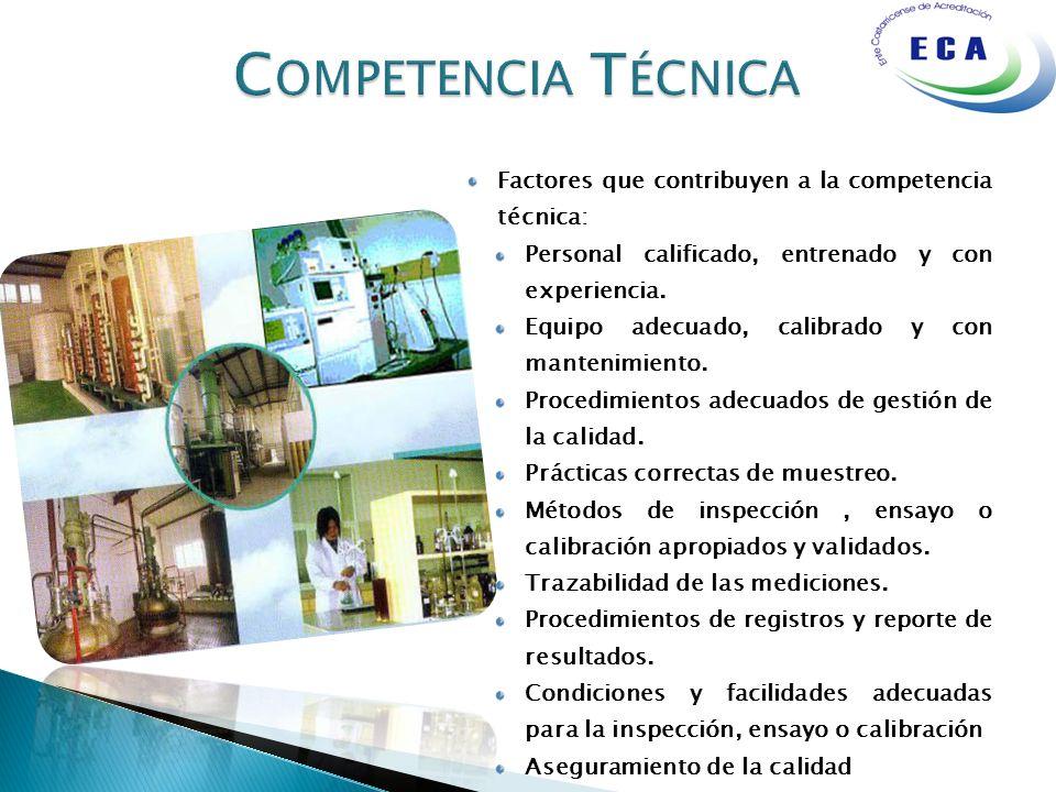Competencia Técnica Factores que contribuyen a la competencia técnica: