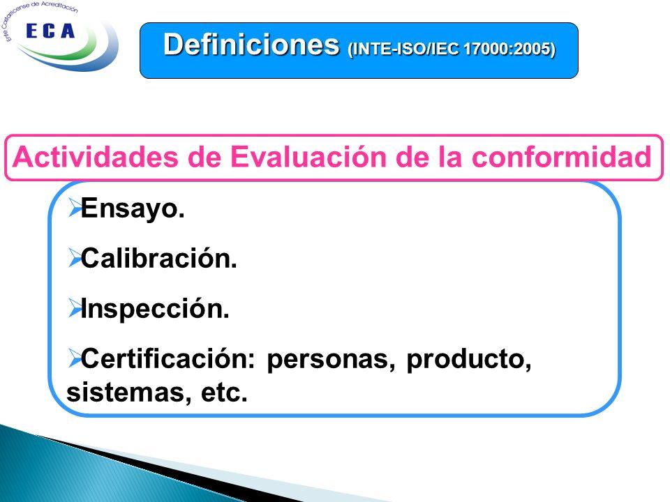 Definiciones (INTE-ISO/IEC 17000:2005)