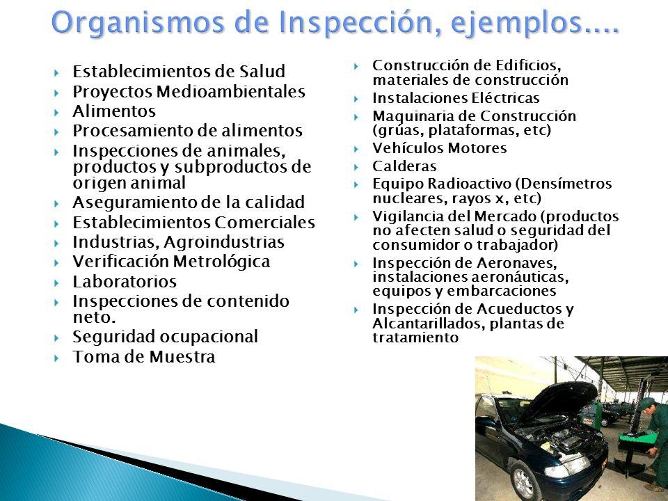 Organismos de Inspección, ejemplos....