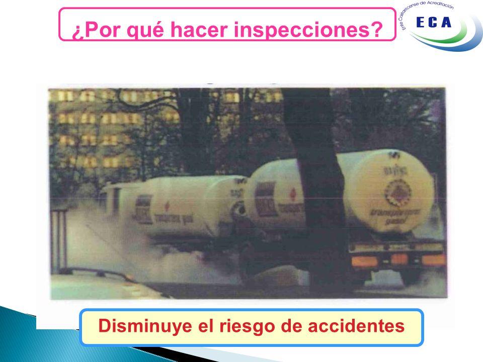 ¿Por qué hacer inspecciones Disminuye el riesgo de accidentes