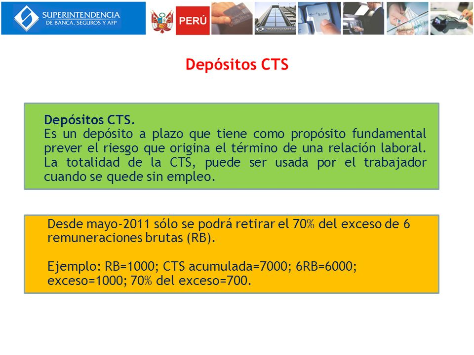 Depósitos CTS Depósitos CTS.