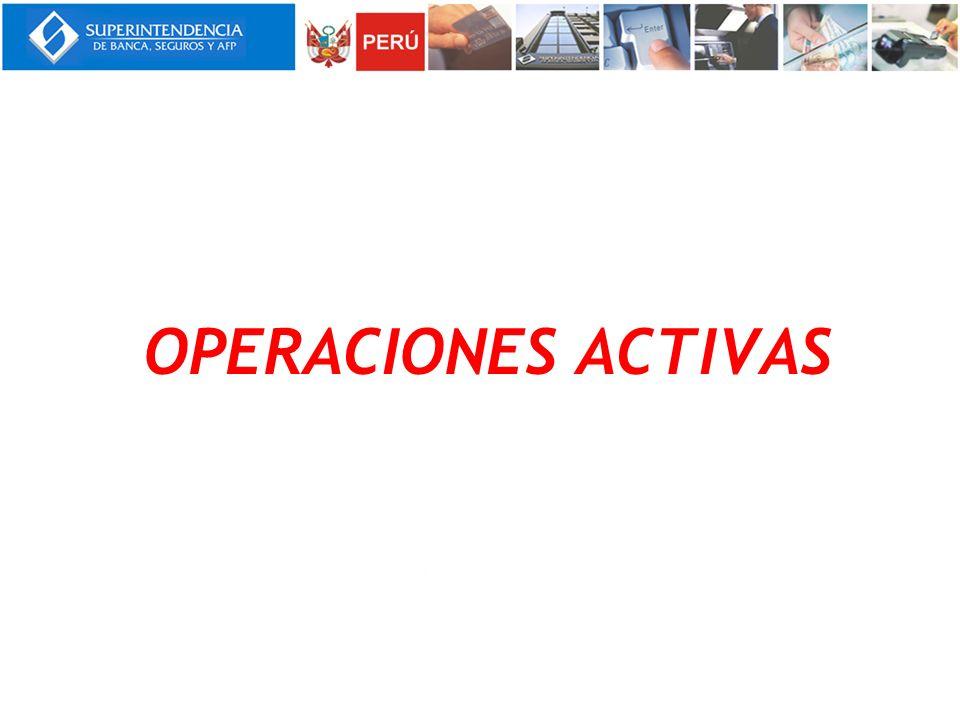 OPERACIONES ACTIVAS Notas: