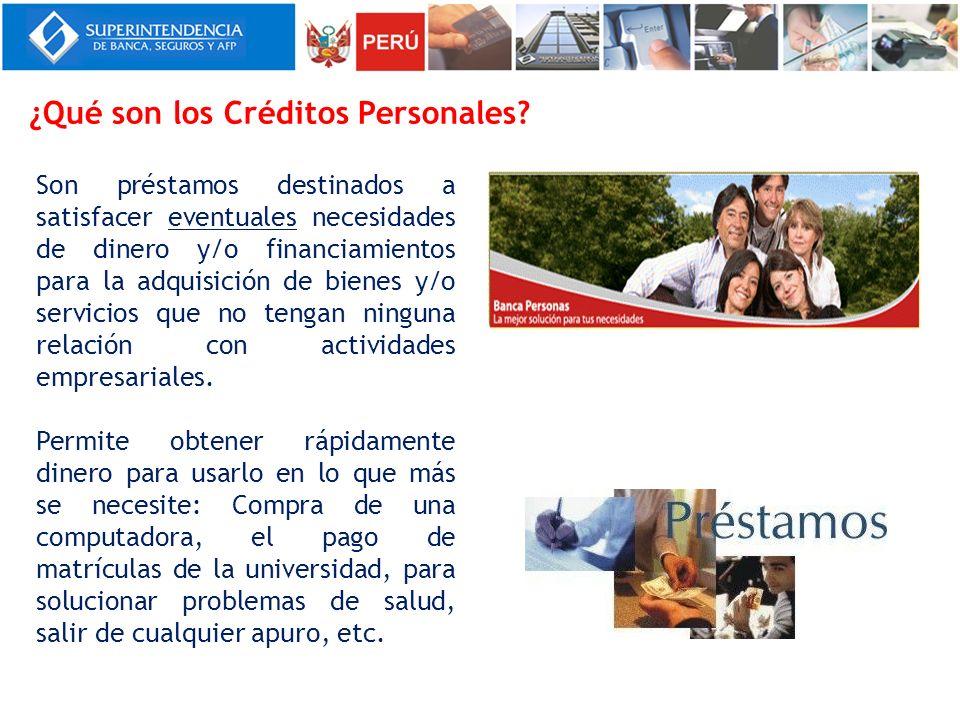 ¿Qué son los Créditos Personales