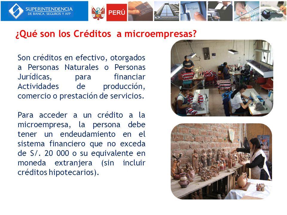 ¿Qué son los Créditos a microempresas