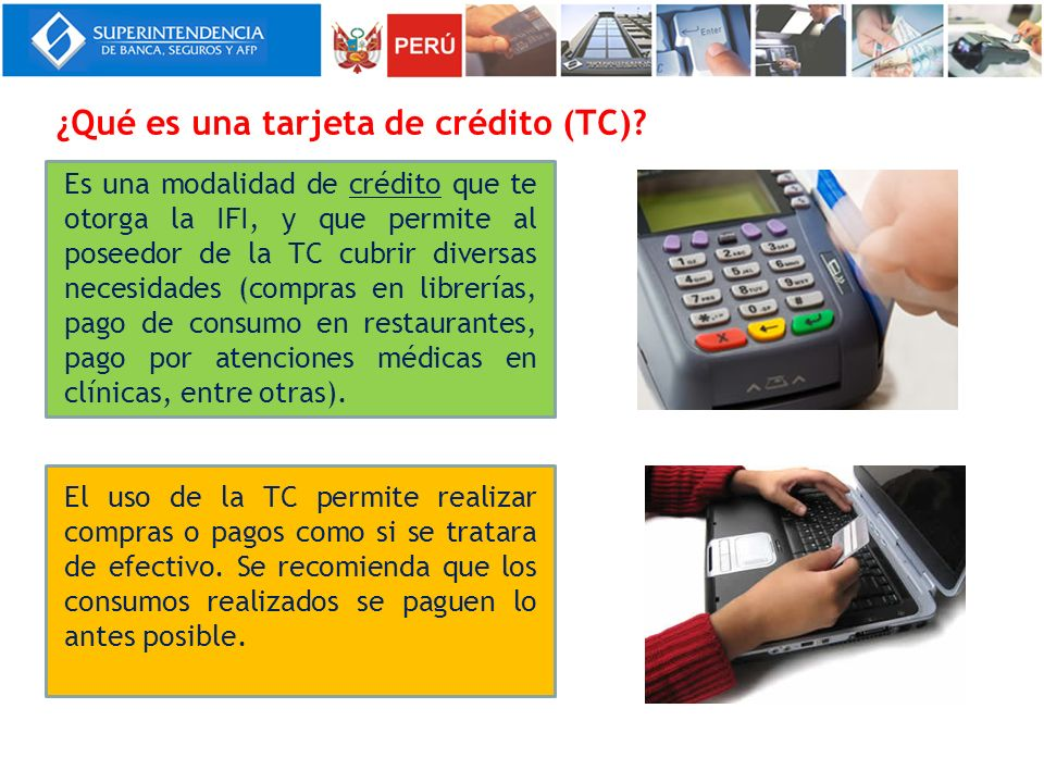 ¿Qué es una tarjeta de crédito (TC)