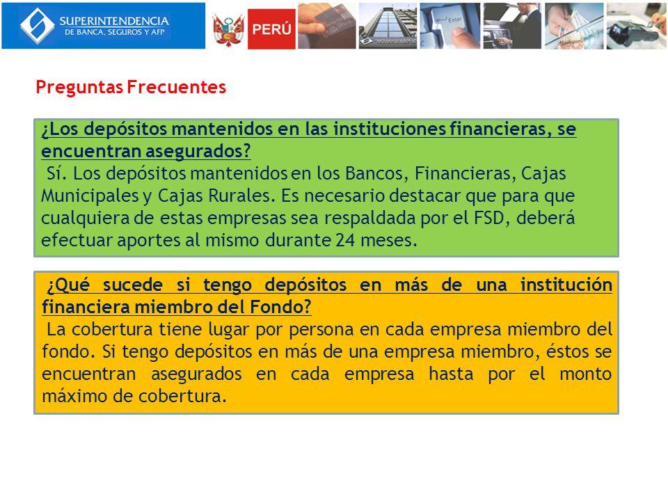 ¿Los depósitos mantenidos en las instituciones financieras, se