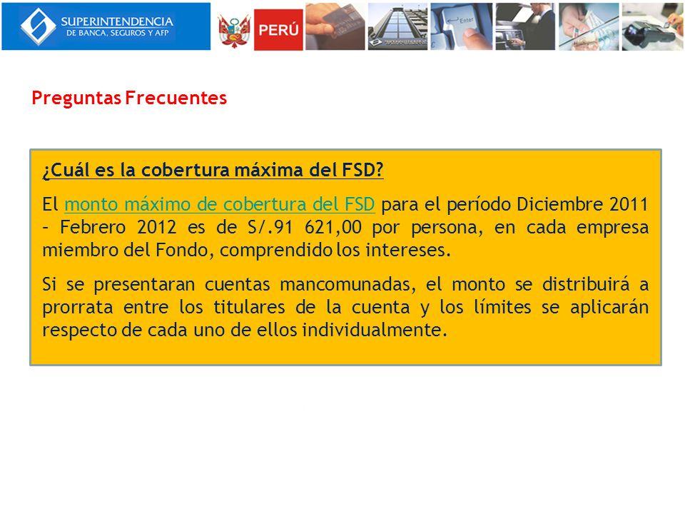 ¿Cuál es la cobertura máxima del FSD