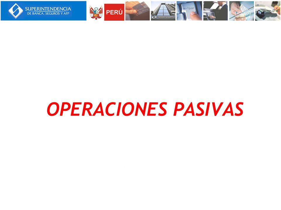 OPERACIONES PASIVAS Notas:
