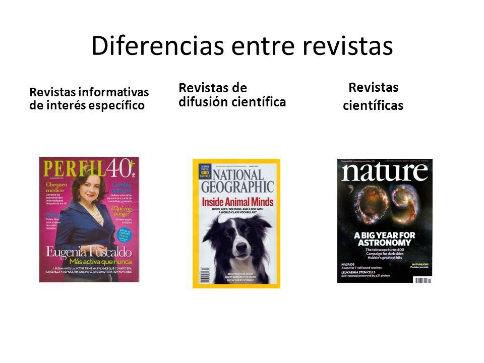 Diferencias entre revistas