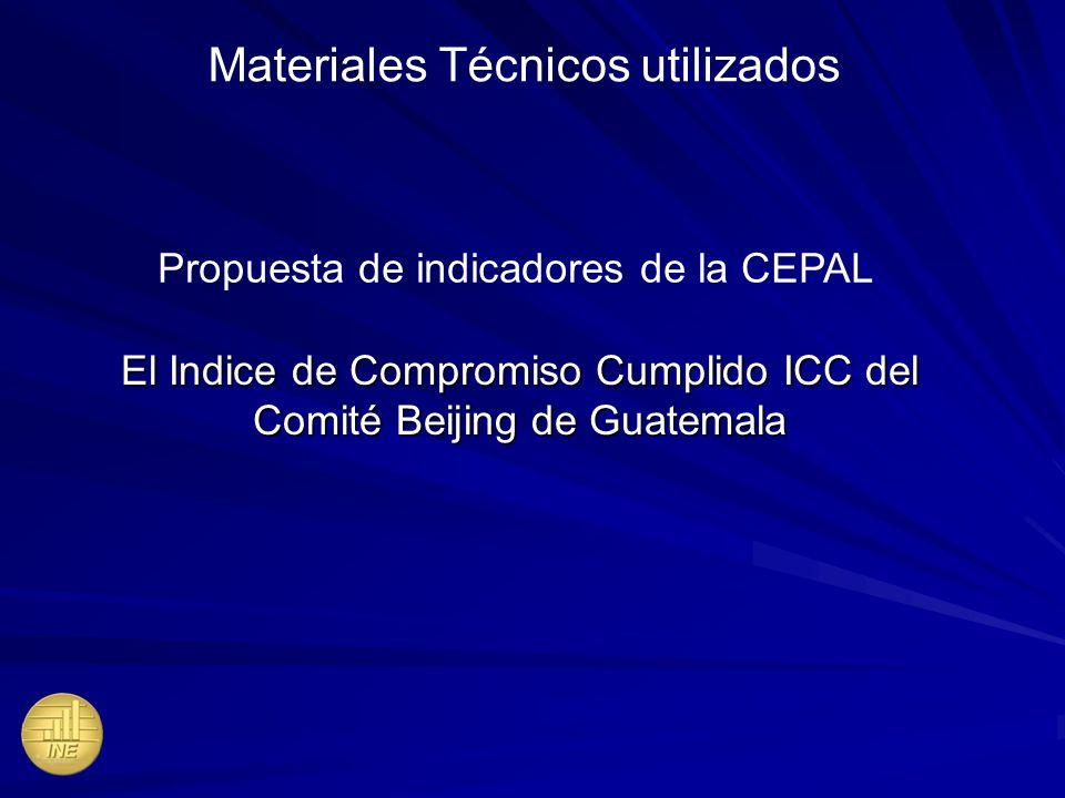Materiales Técnicos utilizados