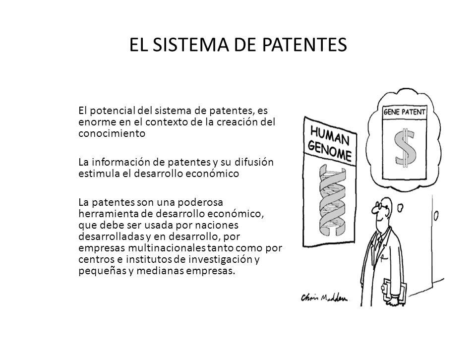EL SISTEMA DE PATENTES El potencial del sistema de patentes, es enorme en el contexto de la creación del conocimiento.