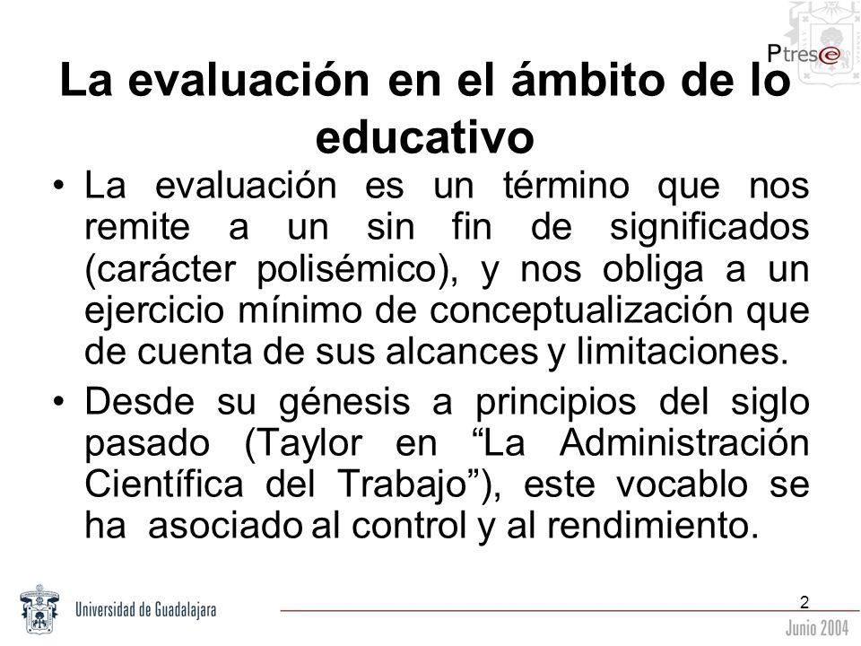 La evaluación en el ámbito de lo educativo