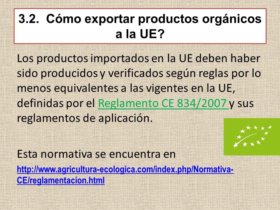 3.2. Cómo exportar productos orgánicos a la UE