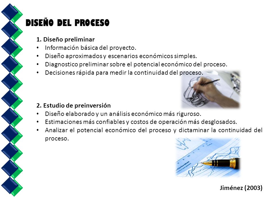 DISEÑO DEL PROCESO 1. Diseño preliminar