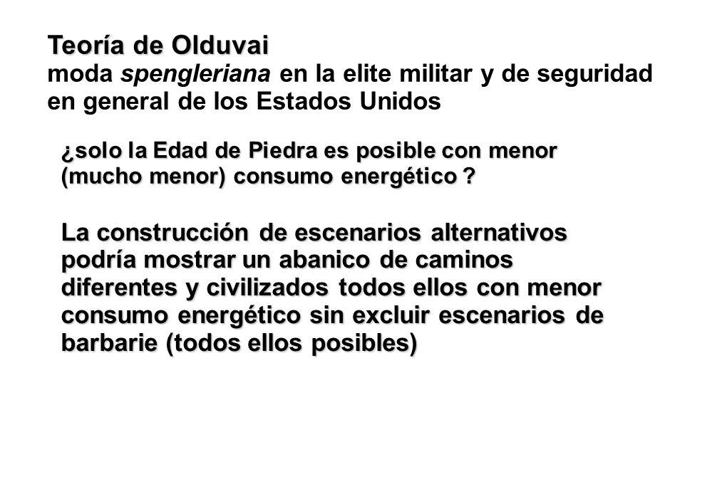 Teoría de Olduvai moda spengleriana en la elite militar y de seguridad en general de los Estados Unidos.