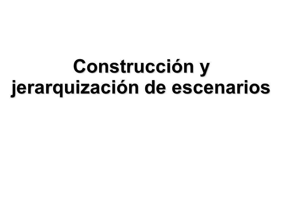 Construcción y jerarquización de escenarios