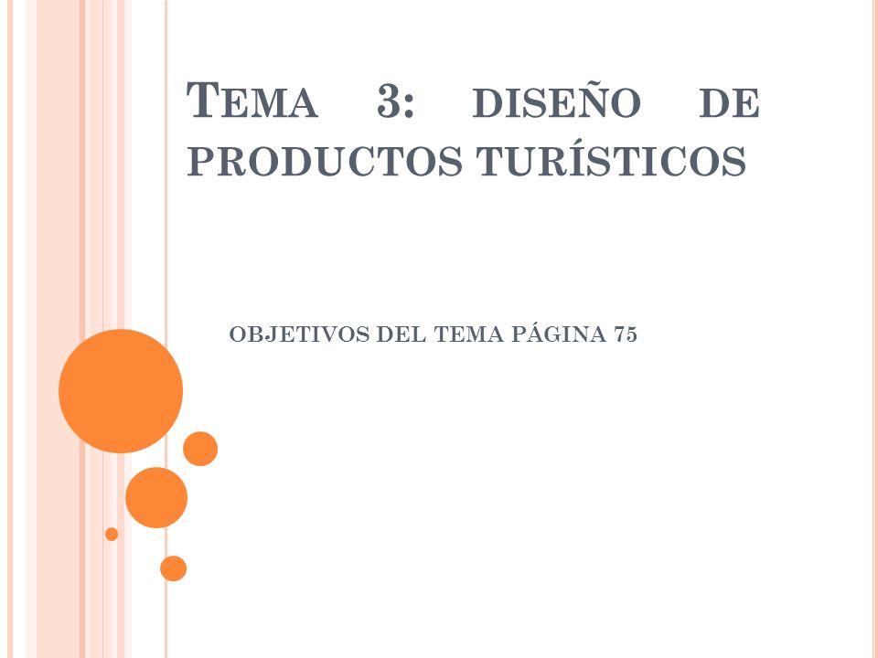 Tema 3: diseño de productos turísticos
