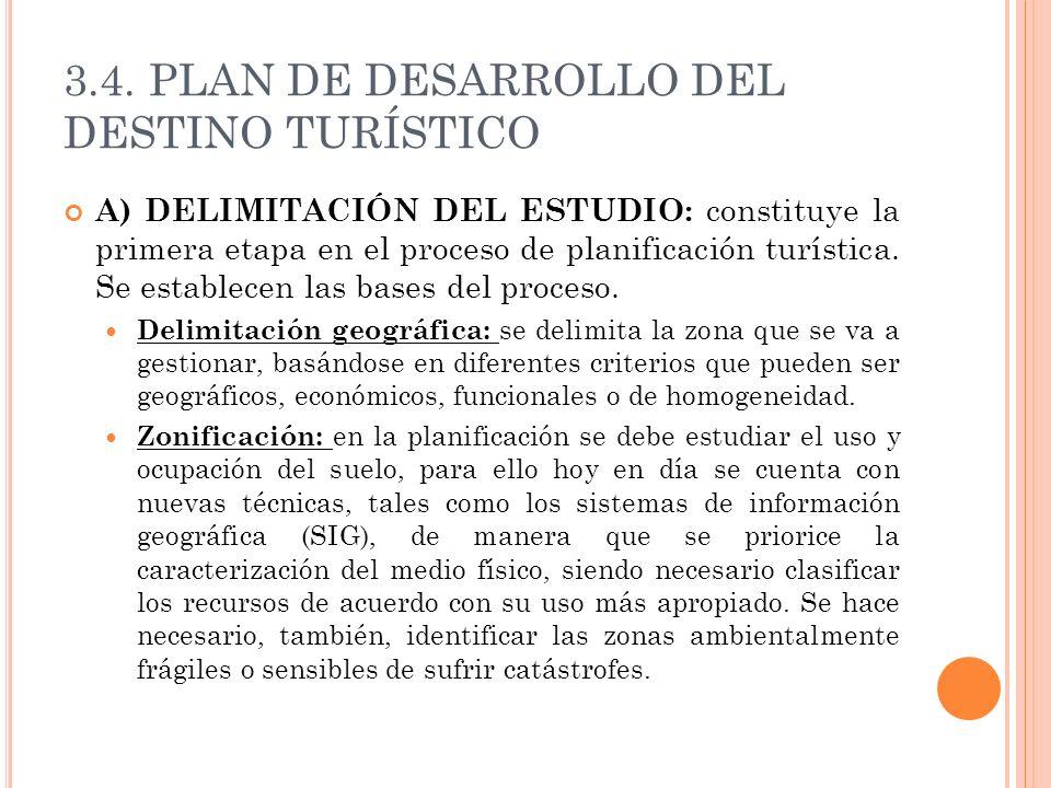 3.4. PLAN DE DESARROLLO DEL DESTINO TURÍSTICO