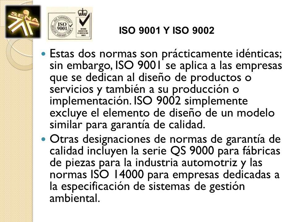 ISO 9001 Y ISO 9002